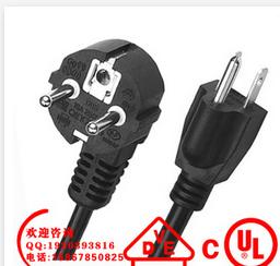 供应法国烟斗插头电源线 欧规圆插电源线 欧标电源线品牌电源线