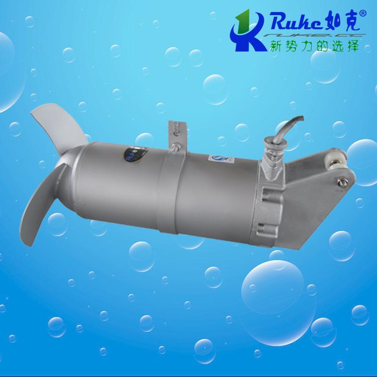 潜水搅拌机45°倾斜安装
