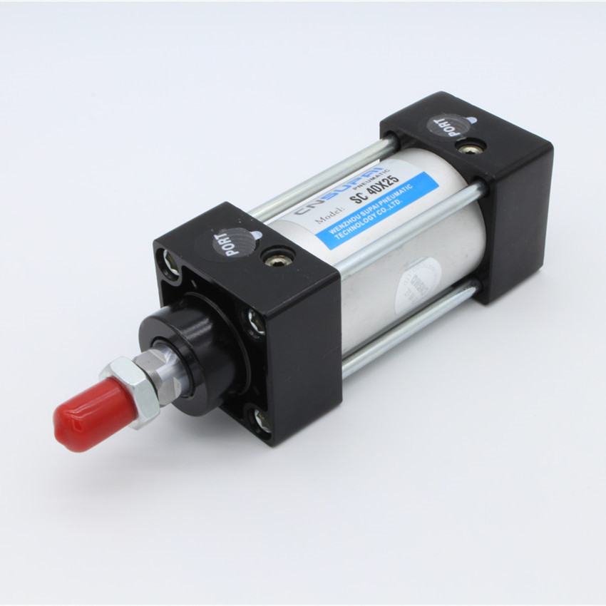 气缸SC40-25/50/75/100/125/150/175/200/250/300/400/500/600