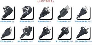C(图)各国认证PVC电线,橡胶线,欧洲三芯电源线,欧规插头电源线