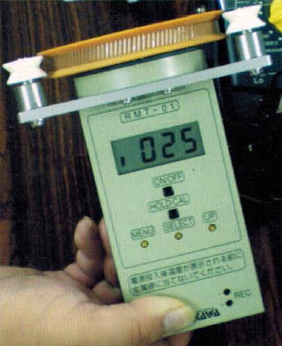 走行金属线温度计