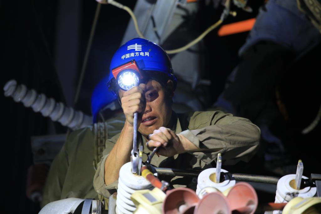 紧急抢修两天半 琼海电网全面复电