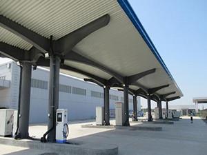 石家庄机场电动汽车充电站土建工程全部完成