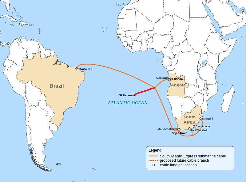 圣赫勒拿岛将接入南大西洋海底光缆系统