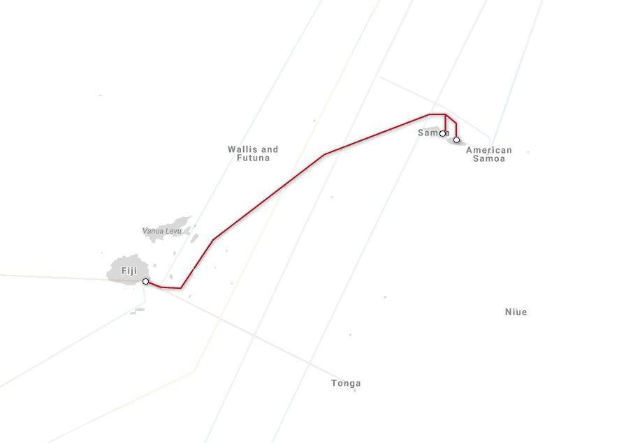 萨摩亚-斐济海底光缆系统将于下月准备投产