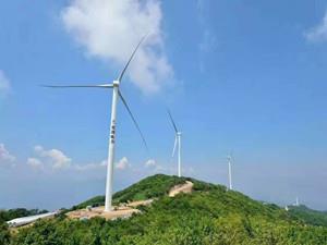 中广核广西玉林110千伏冲山风电场正式并网发电