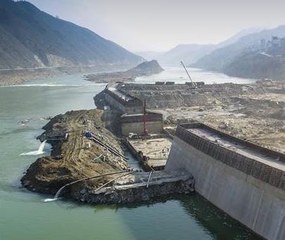湖北孤山水电站抓紧施工 目前一期围堰已完工