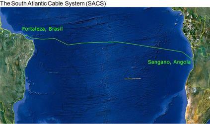 非洲-南美洲海底光缆系统SACS成功登陆巴西