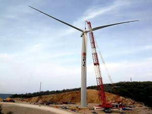 上海电力首个欧洲风电项目顺利完成首台风机吊装