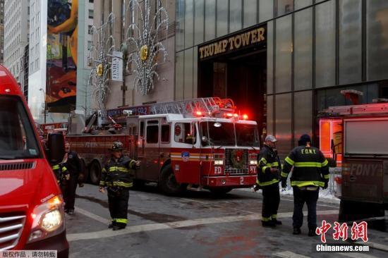 用电过载致电线起火 特朗普大楼再度发生火灾