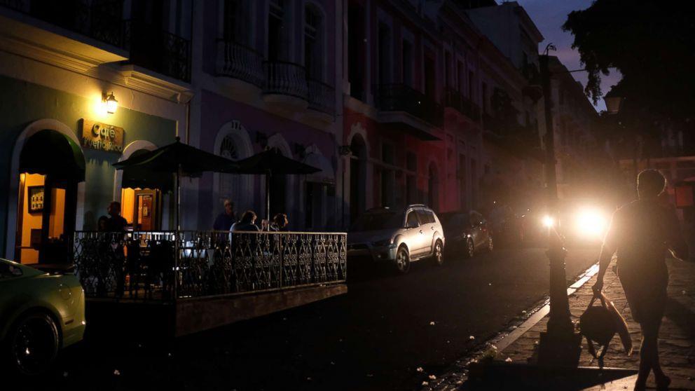输电线被切断致波多黎各全岛停电