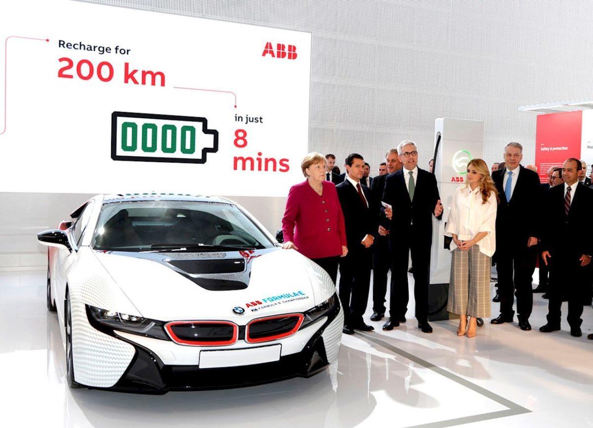 号称全球最快电动汽车充电器:8分钟增加200公里