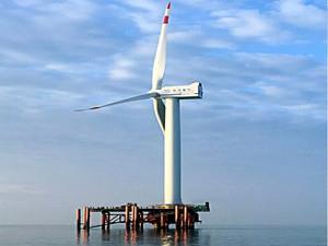 东方风电抗台风型5MW海上风电机组一次性并网成功