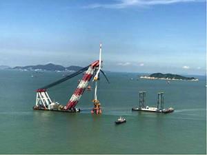 珠海桂山海上风电场示范项目顺利完工