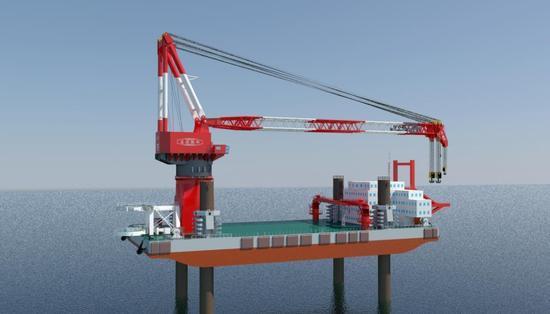 国产世界最大海上风电施工平台交付