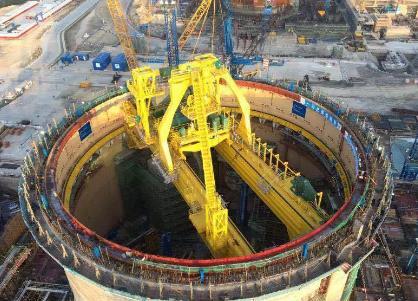 """防城港核电环吊安装完成 华龙一号示范项目""""加冕""""进入倒计时"""