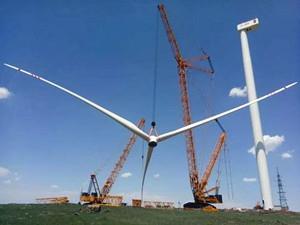 三一重能3.XMW风机平台SE14534机型顺利完成吊装