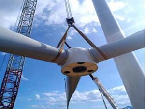 白石渡50MW风电项目最后一台风机吊装工作正式启动
