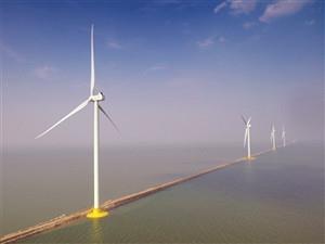 天津南港海上风电场一期工程正式投入运营