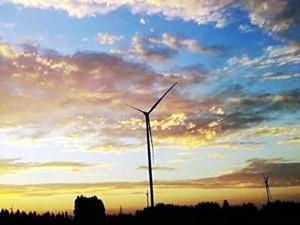 中国电建承建的临西运河200兆瓦风电场项目一期并网发电