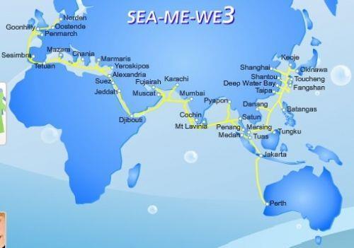 SeaMeWe-3海底光缆系统印度段出现故障