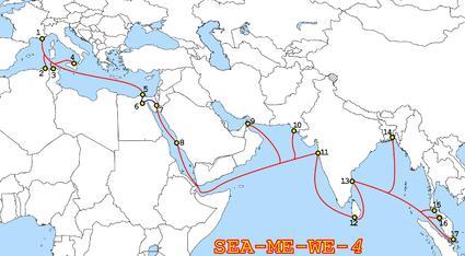SeaMeWe-4海缆系统孟加拉国段进入维护期