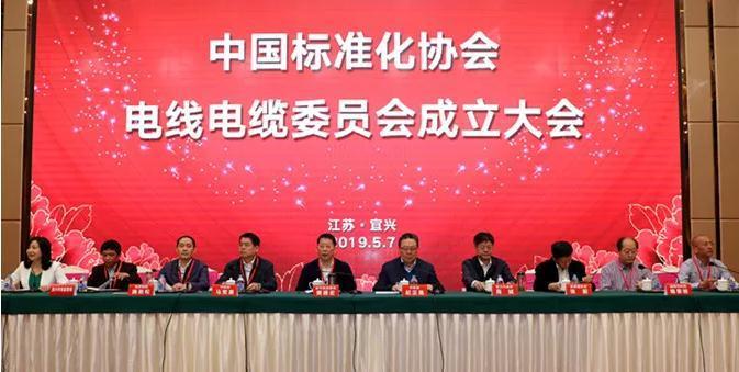 中国标准化协会电线电缆委员会成立大会在宜兴顺利召开