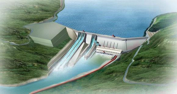 尼泊尔上催树里3A水电站首台机组并网发电