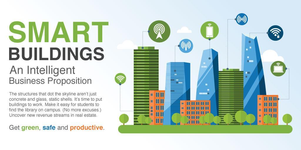 2019年全球智能建筑市场规模将达到607亿美金