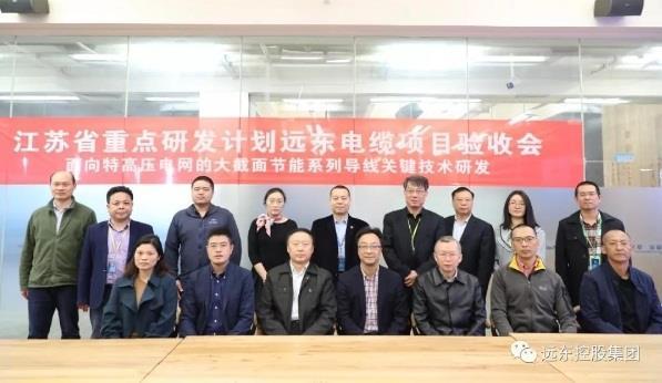 远东电缆承担的江苏省重点研发计划项目验收会顺利召开