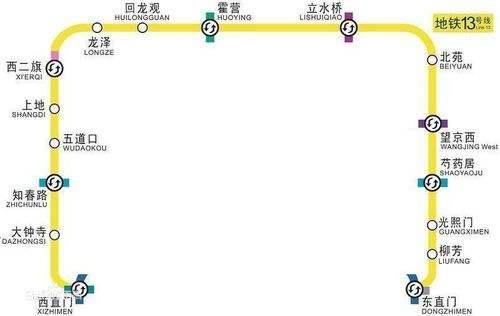 发改委批复同意北京地铁13号线将拆分扩为两条