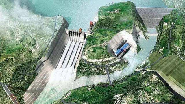 中企承建的巴基斯坦卡洛特水电站座环吊装完成