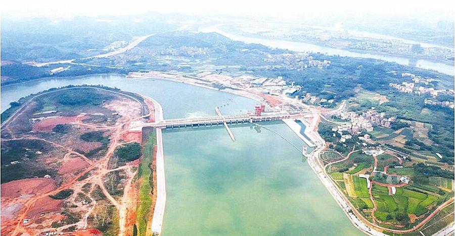 广西南宁邕宁水利枢纽工程主体工程基本完工
