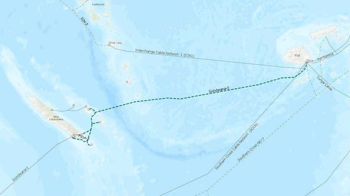 新喀里多尼亚-斐济海底光缆系统拟于2022年初建成