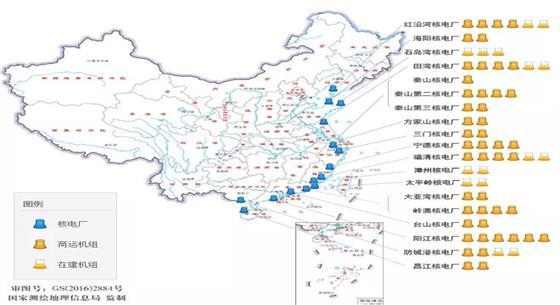 國家核安全局發布大陸核電廠最新分布圖
