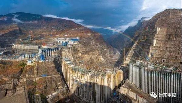 远东为白鹤滩水电站所供垂吊敷设电缆完成敷设
