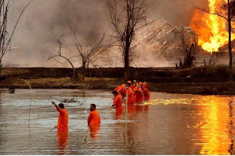 印度阿萨姆邦油井大火伤亡惨重 多数油气井关闭