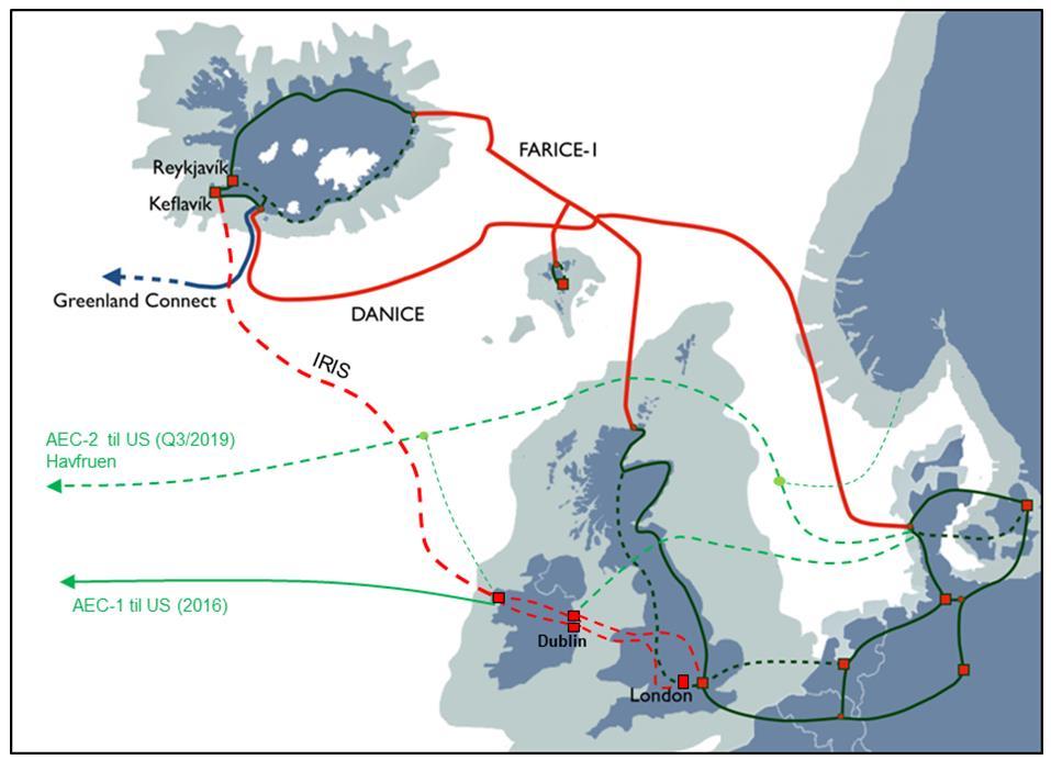 爱尔兰-冰岛海底光缆IRIS拟于2022年底投运