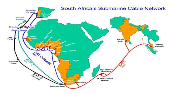 SAT3海纜進入維修期 毛里求斯互聯網用戶受影響