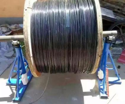 加固5T螺旋放线架/普通三角手摇电缆线盘支架