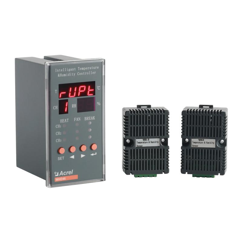 智慧消防安科瑞智能型温湿度控制器WHD46-33-C三路温湿度测量带RS485通讯